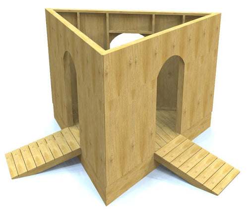 Free, wooden triangle shaped playhouse
