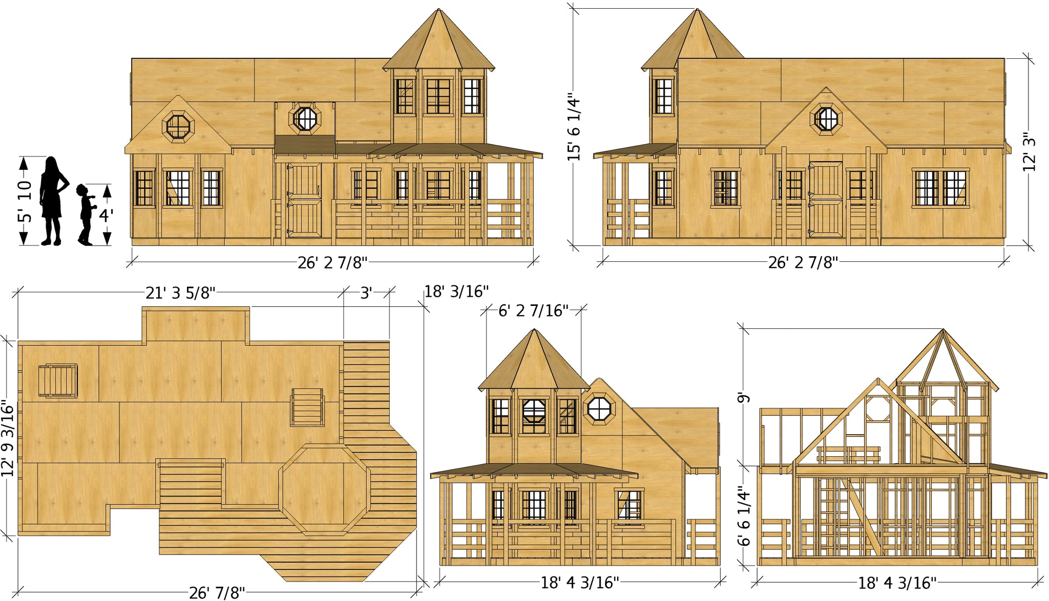 18x26 Victorian Mansion Playhouse Plan for Kids – Paul's ... on playhouse lighting, 2 story playhouse plans, a frame playhouse plans, playhouse deck plans, playhouse construction, playhouse doors, playhouse flooring, playhouse furniture plans, playhouse on the mall, playhouse design plans, playhouse windows, playhouse wood plans, custom playhouse plans, playhouse bedroom plans, playhouse bed plans, girls playhouse plans, simple playhouse plans, playhouse stairs plans, playhouse size lincoln logs, playhouse interiors,