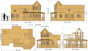 Victorian Mansion Playhouse Plan