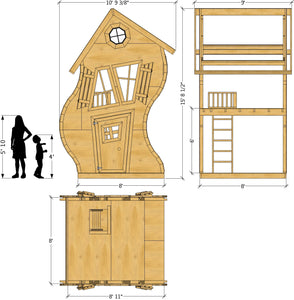Wavy Residence Playhouse Plan