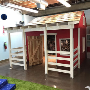 Indoor barn playhouse