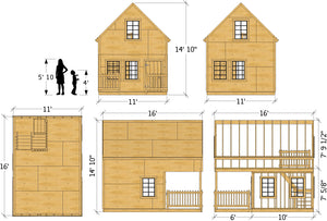 """Yellow"" Playhouse Plan"