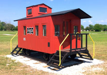 red metal caboose playhouse / playset plan for kids