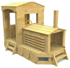 free wooden train play set plan for kids - Plans For Outdoor Playhouses