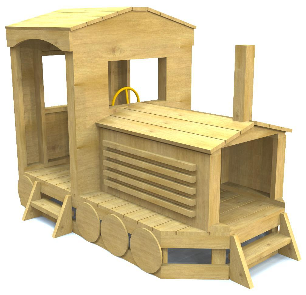 Free, wooden train play-set plan for kids