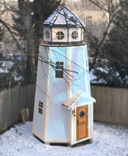 blue, 3 level lighthouse playhouse for kids