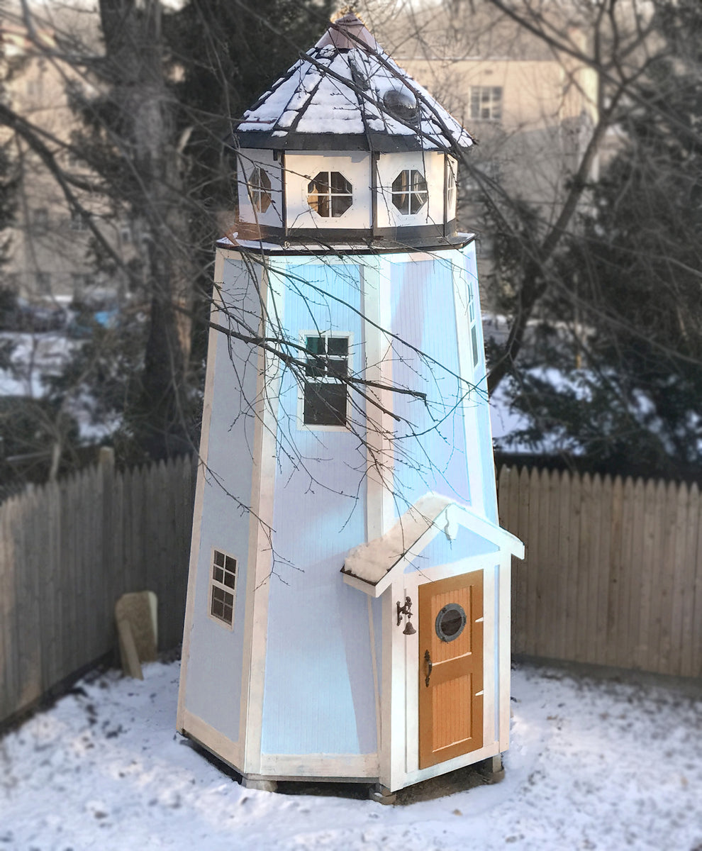 Lighthouse playhouse plan 140ft wood plan for kids for Barn and silo playhouse
