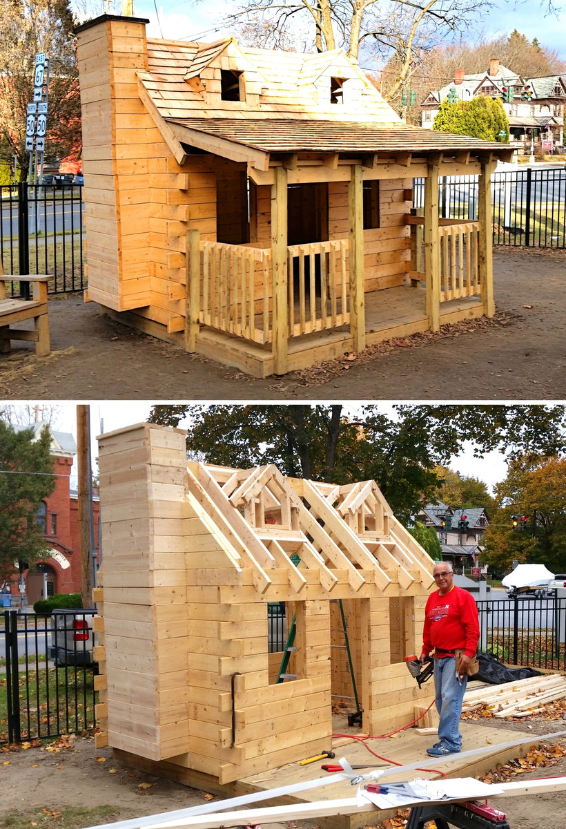 Log Cabin Playhouse Plan 100ft 178 Wood Plan For Kids
