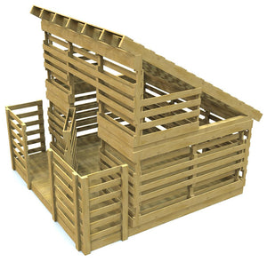pallet clubhouse with front porch