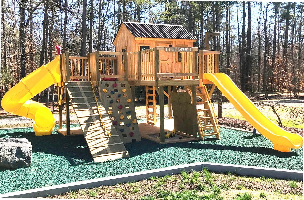 Do It Yourself Home Design: 16x16 Playground Playhouse Plan For Kids