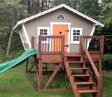 cute grey outdoor playhouse for kids