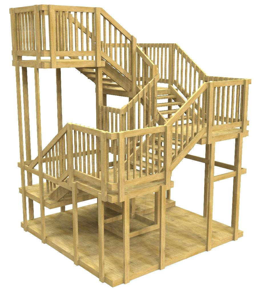 wooden spiral play-set plan