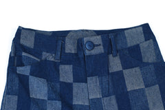 Checkerboard Denim Trouser