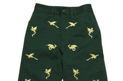 Mystic Dragon Embroidered Trousers - Green