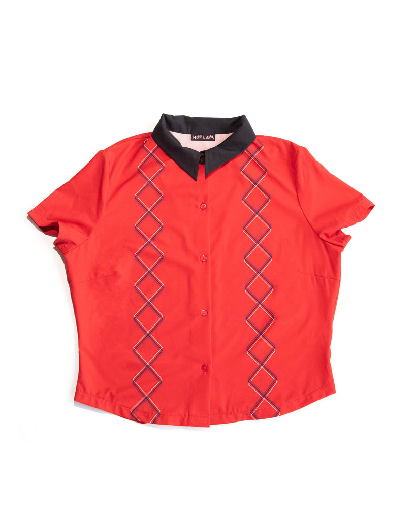 Red Cruiser Button Up Top