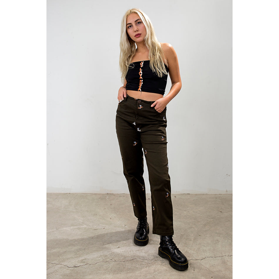 Cherub Embroidered Trousers