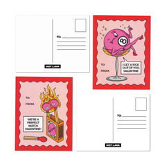 Tear-and-Share Pinkie Valentine's Postcards