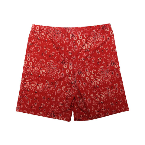 RED BANDANA SWIM SHORTS