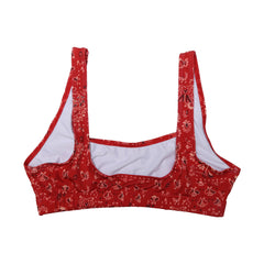 RED BANDANA SWIM TOP