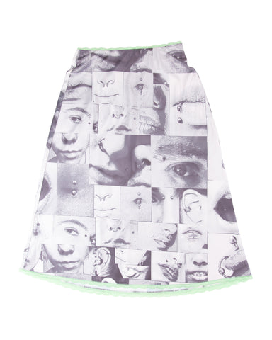 Piercing Skirt - grey/seafoam