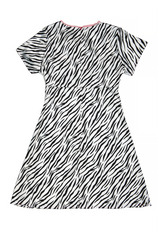 Zebra Deadstock Day Date Dress