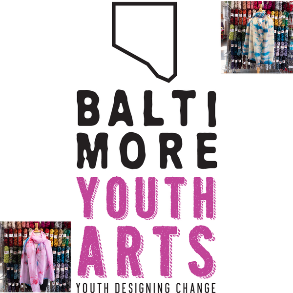 Baltimore Youth Arts Hand-Dyed Scarves