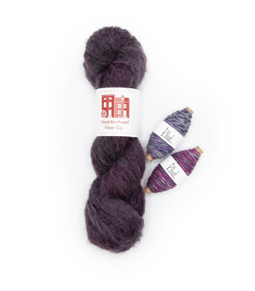 Purple/Gray Alpaca Meringue Set