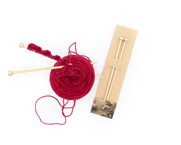 KA Bamboo Straight Knitting Needles