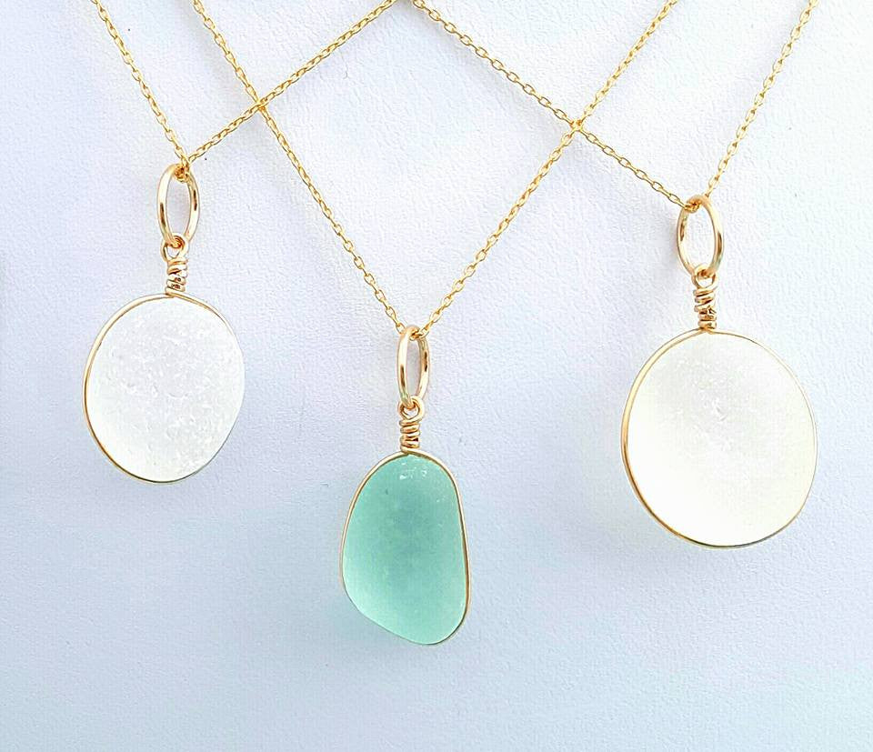 Gold Sea Glass Jewelry