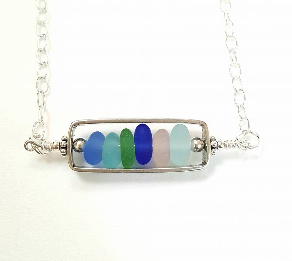 sea glass Jewelry Bar Necklace