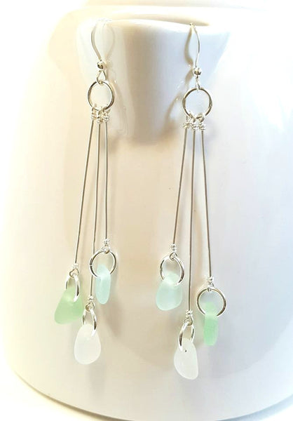 Ocean Tumbled Sea Glass Earrings