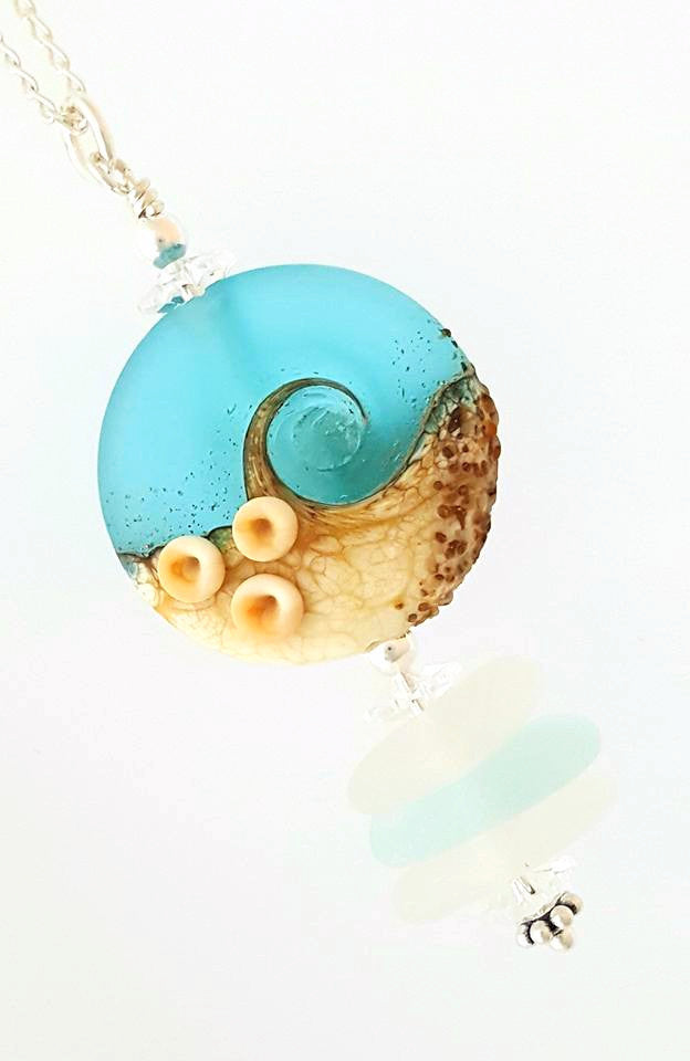 Beach Necklace With Real Sea Glass