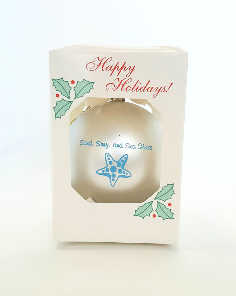 Sea Glass Ornament Holiday Decoration Beachy