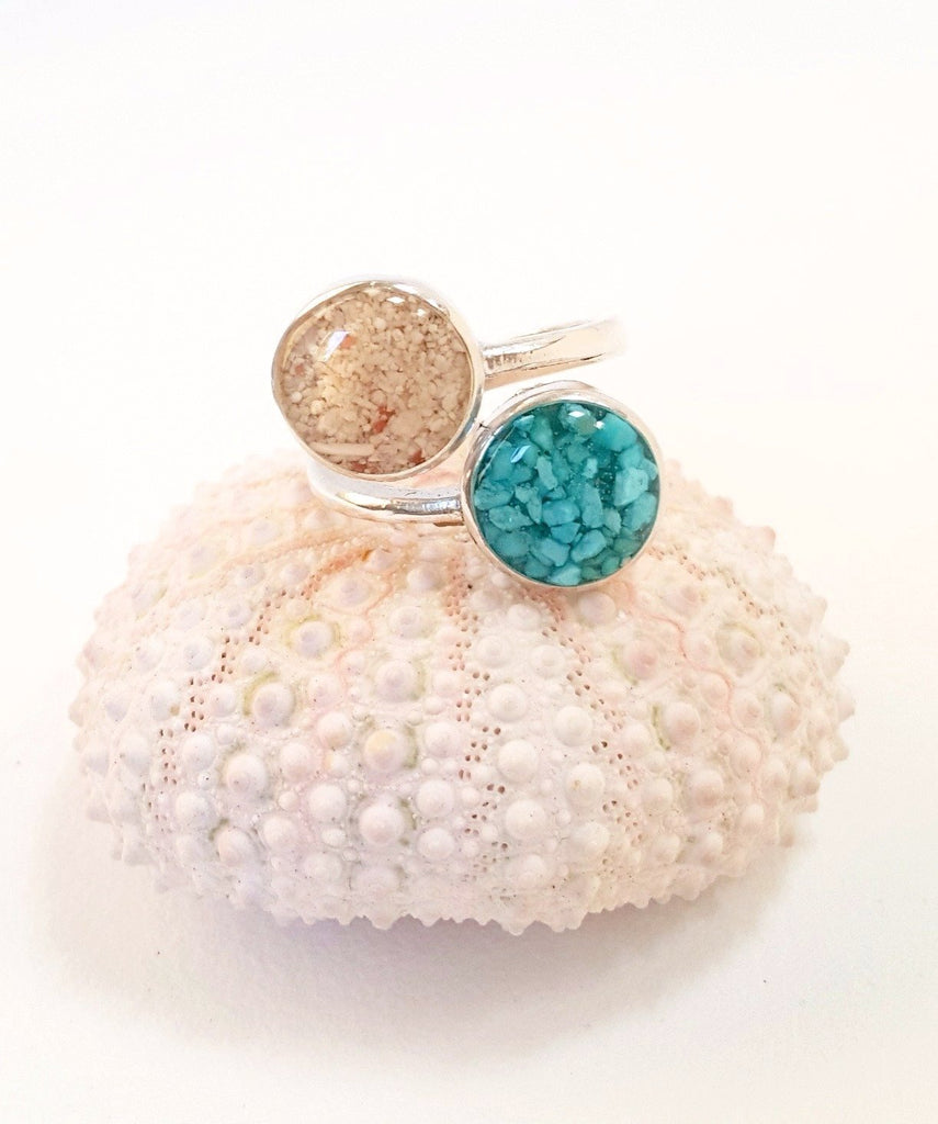 Sand and turquoise ring