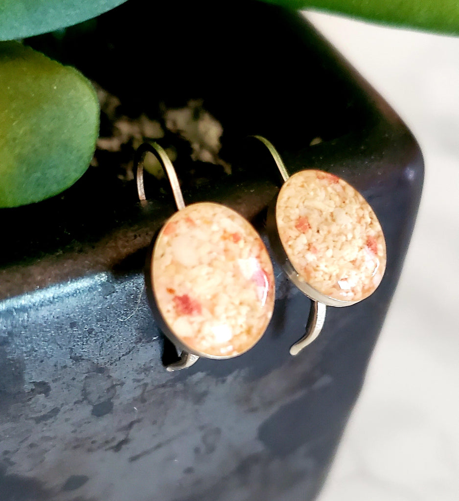 Artisan Made Sand Earrings in Sterling Silver