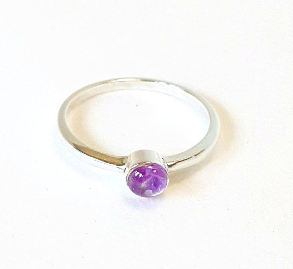 Amethyst  Ring Handmade in Sterling Silver