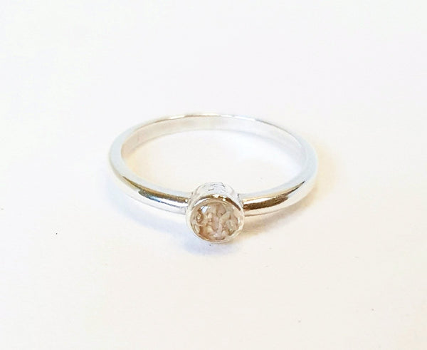 Sand Ring In Sterling Silver Handmade Beachy