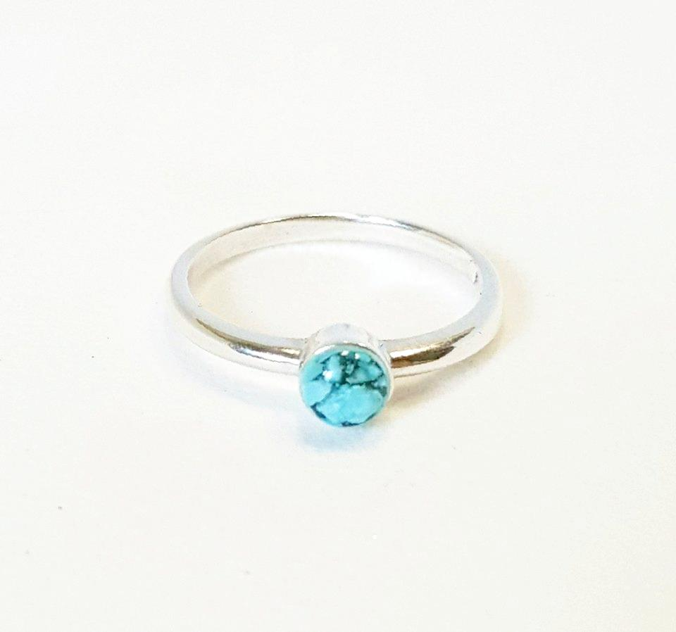 Handmade Turquoise ring in Sterling Silver