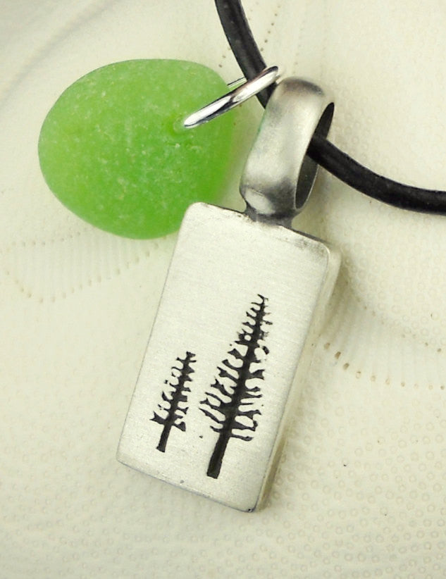 Sea glass tree necklace