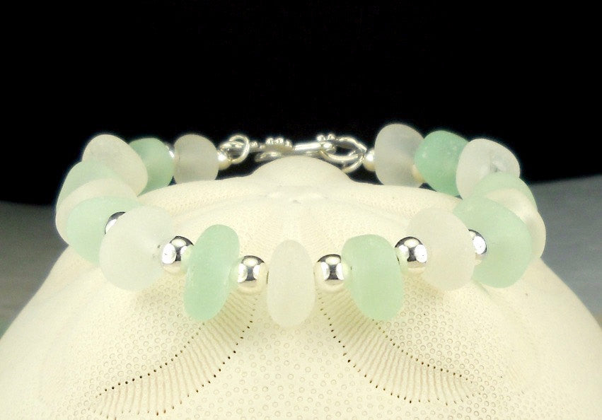 Sea Glass Bracelet with Genuine Sea Glass!