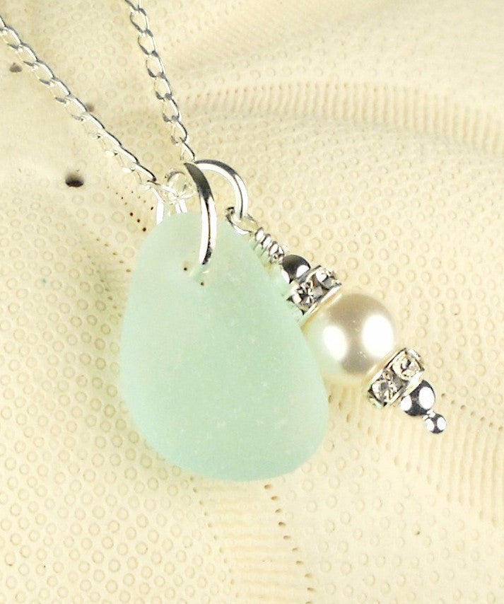 Real Beach Glass Necklace