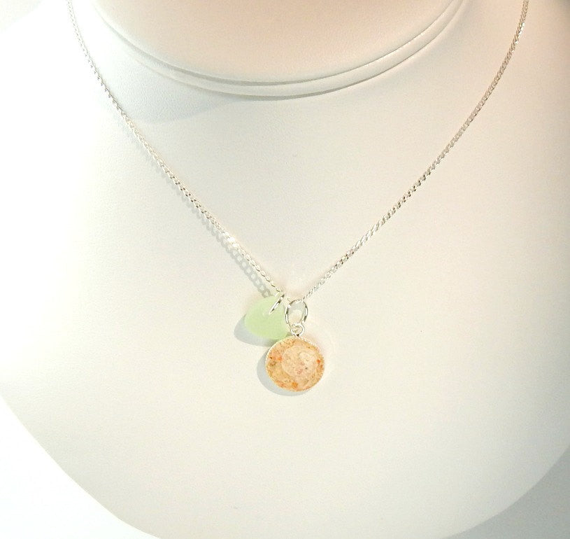 Handmade GENUINE Sea Glass Jewelry Bermuda Sand Necklace