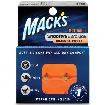 Shooters Moldable Silicone Putty Ear Plugs