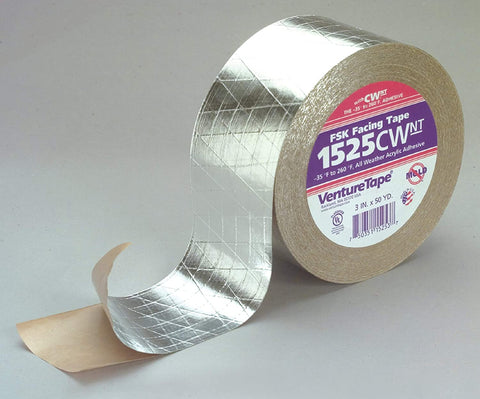 "3M VENTURE FSK FACING TAPE, 3""X50 YDS"