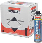 Soudal Pro FireBlock Foam Sealant for Gaps and Cracks 24 oz can (Sealed Case of 12)