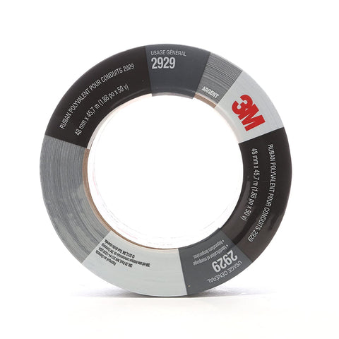 "3M UTILITY DUCT TAPE 2929 SILVER, 1.88"" X 50 YD, 5.5 MIL"