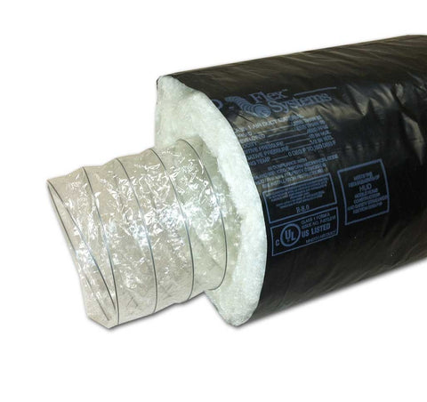 "Flex Duct w/ Black Facer - 6"" x 25' (R-8) , Building Material - Insulation Solutions, Inc., Insulation Materials"