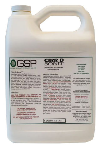 CIRR D Bond Crystalized Isocyanate Resin Remover - 1 Gallon Easy Pour JUG…
