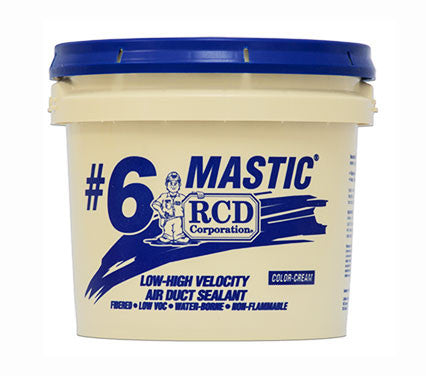 RCD #6 Duct Mastic - 2 Gallon Pail , Building Material - RCD Corporation, Insulation Materials