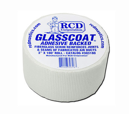 "RCD Glasscoat Mesh Tape - 3"" x 180' , Building Material - RCD Corporation, Insulation Materials"